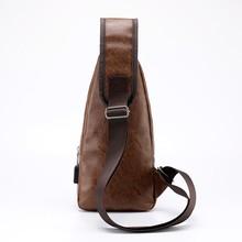 Bag 2018 New Men's Brassiere Slant Bag Men's Bag One Shoulder Bag Korean version Small Backpack Leisure Backpack Men's Brassiere