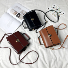 Small bag women 2019 new chic chain bag retro lock small square Bag Mini slant span small bag single shoulder bag