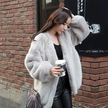 Fur coat women loose autumn and winter mink-like Plush coat mink fur coat women's large size medium-long cardigan trend