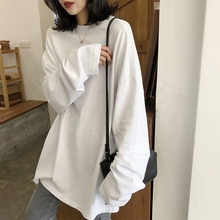 Early autumn mschf long sleeve Hong Kong Style languid large edition top