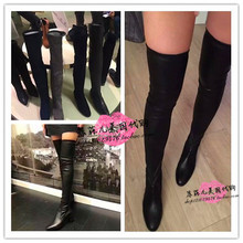 Authentic Parallele knee boots, women's shoes, elastic leg skinny boots, high tube boots, small peppers and the same.