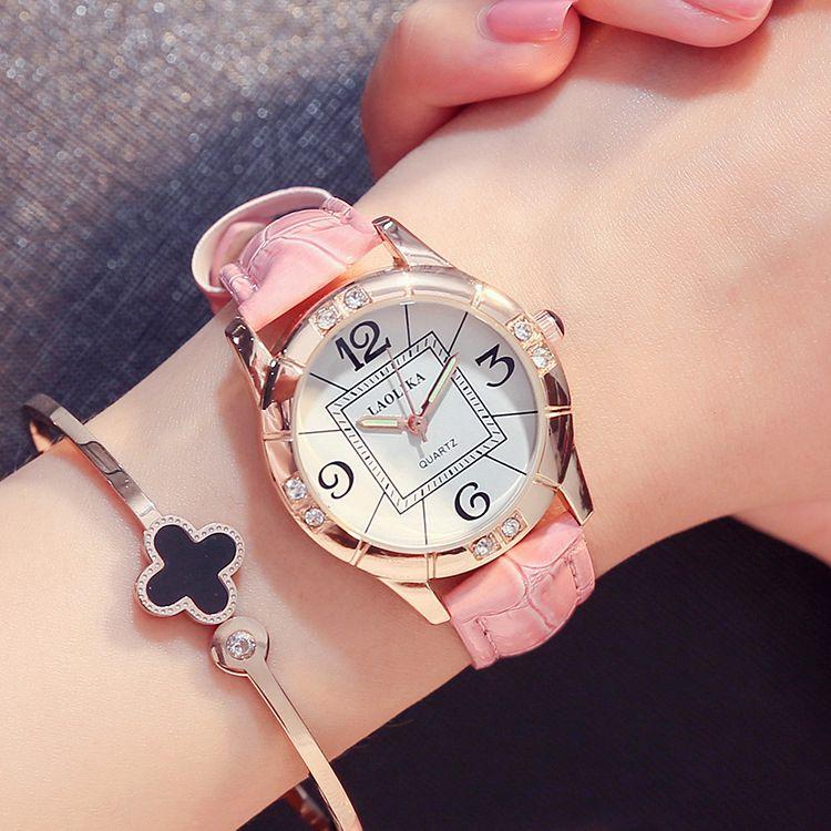韩国气质女士石英时装手表韩版潮流时尚女学生简约休闲手表