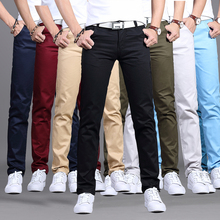 Straight fit men's Korean thin casual pants