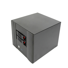 NAS chassis 2 socket hot swap storage device server ITX cabinet network storage server chassis