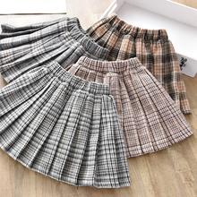 Girls' skirt autumn and winter 2019 new Korean style girls' pleated princess skirt children's Plaid Skirt