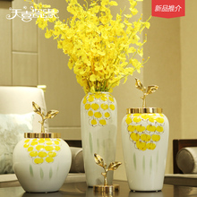 European ceramic vase simulation flower arranging place new Chinese style household soft adornment porch decoration living room TV cabinet