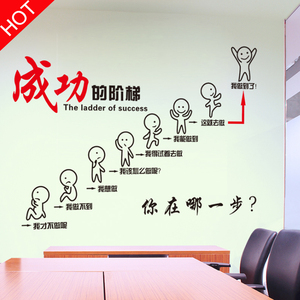 励志墙贴纸海报办公室房间装饰品公司贴画班级企业文化墙教室布置墙贴