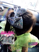 New pattern! JOJO super large bow, child clip, laser Unicorn top clip peach heart girl hand hair accessories