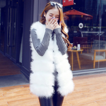 Imitation fur coat medium length vest Plush Korean winter vest