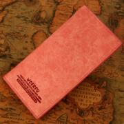 Ladies leather wallet long section of Japanese and Korean style vertical section leather wallet women's wallet purse Korean version of the influx of female models