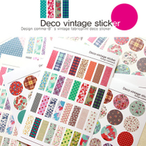 �M���] Deco vintage sticker �n���}����@�黨�²��N�� 6����