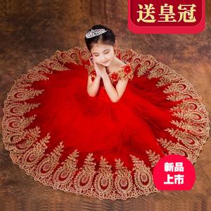 儿童礼服蓬蓬六一演出服花童女童婚纱童装公主裙钢琴裙生日晚礼服儿童礼服