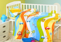 Kindergarten quilts three sets of six core set of cotton bedding cotton full quilt set baby napping children winter