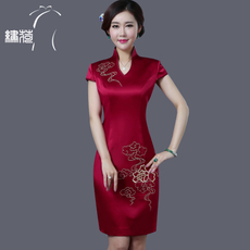 Cheongsam dress Embroidered Lotus 14101039/1 2017