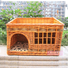 Rattan, cat, litter, pets, supplies, willow, Persian, cat, dog, cushion, washable, small dog, double dog house, spring and summer.