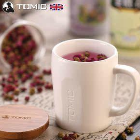 英国TOMIC创意陶瓷杯大马克杯可爱带盖情侣水杯子咖啡牛奶杯包邮