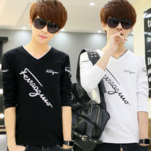Spring bottom coat men's long sleeve T-shirt. Youth trend body student clothes new spring 2019