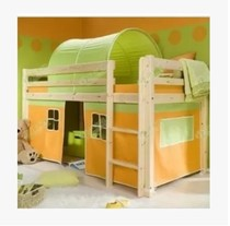 Solid wood cribs and a half high bed game posted bed childrens play tents bed mantle