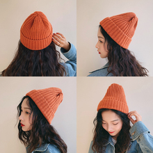 Knitted Wool Hat Female Autumn Winter Korean Edition Baitao Leisure Winter Sweet and Lovely Korean ins Men's Cold Hat