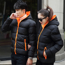 White duck down wind and rain proof large wool collar Korean outdoor down jacket