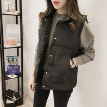 Autumn and winter Korean version show thin and thickened down cotton vest