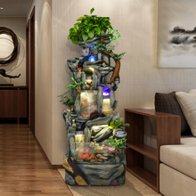 Rockery, water fountain, glass fish tank, fengshui, atomized fish, bonsai, creative gifts, living room decoration, landscape decoration