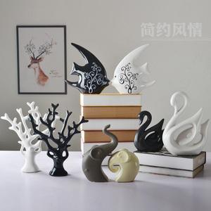 家居装饰品 时尚陶瓷工艺品 创意家饰客厅摆件花瓶花插 现代简约家具饰品摆件