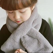 Baby children Korean version boys infant imitation rabbit hair scarf