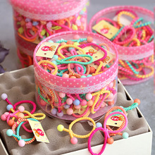Children's hair ring, cute Korean cartoon baby rubber band, girl's head rope, no hair wound, hair band and leather string.