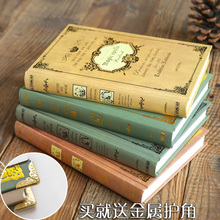 European style retro notebook Stationery Book thickened hard shell super thick Magic Book Notepad classic creative diary