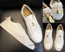 VICKIE act as purchasing agency BUSCEMI 18 chun xia Hong Kong golden lock white lace white shoe
