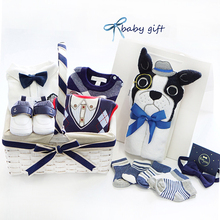 Dog new year gift box, baby clothes set gift box gift gift for newborn babies