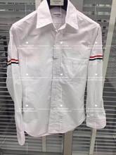 日本代购 Thom Browne TB经典基础款牛津府绸双袖标条纹长袖衬衫