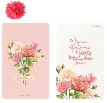 �n���M�ڽ�ͨ���N�� GRACEBELL Flower Card Sticker 01_Rose