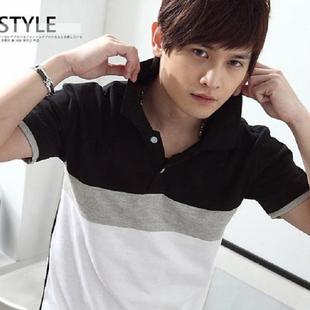 2013新款夏装春款韩版男装修身男款V领潮流个性公子 男士短袖t恤