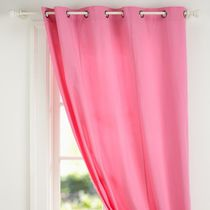 Special foreign trade original p punch wear pure cotton curtains 2 sizes ~ cover spectrophotometry pink