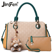 Jinfenshijia 2013 fashion handbags Korean version of the new fashion brand shoulder bag big bag ladies bag