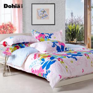 多喜爱床单四件套斜纹全棉床上用品纯棉家纺田园床品套件缤纷摩卡床单