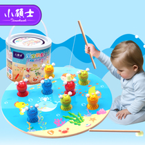 Small master fishing puzzle wooden magnetic toys baby boy baby girl baby childrens wooden 2-3