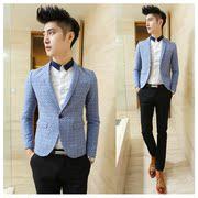 Automne 2014 single-breasted costume coton jeune homme d'affaires afflux non-fer des hommes de veste de costume Slim hommes coréens