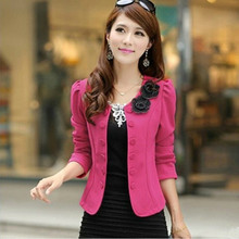 2019 spring and Autumn New Korean large women's top slim short long sleeve small suit small suit women's coat trend