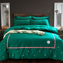 Simple wind cotton English-style embroidered sheet set of four new Special Edition bed 1.5 1.8 health bedding