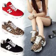 Leopard sports running shoes women shoes Korean tidal N word Gump new fall shoes heavy-bottomed shoes