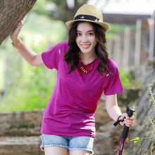 Outdoor sports quick dry T-shirts, summer summer dry clothes, short sleeves, loose big yards, quick drying, sun fat mm, plus fertilizer.