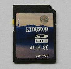 SD Card Kingston 4GB SD SDHC