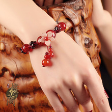 Antique wind, Red String Bracelet, female garnet string, Korean version, simple personality, glazed hand adornment, antique decorations.