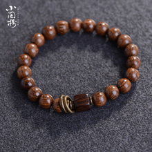 Package mail: Gold sandalwood bracelet, gold nanmu, aloe, ebony, shady wood, Buddha bead, lady couple bracelet Jewelry 8M
