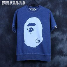 Толстовка Other BPE/swtr/17ss0409 BAPE INDIGO BIG