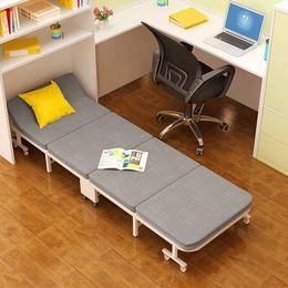 瑞乐尔 办公室折叠床单人床家用成人午睡床加固四折木板床午休床