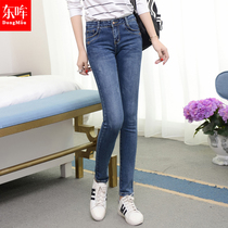 In the Korean version of the Joker thin thin elastic waist pencil jeans